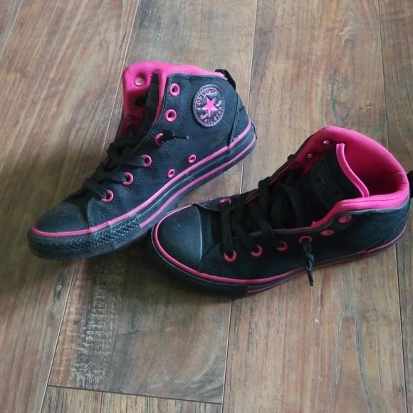Pink Converse Hi Tops   Poshmark